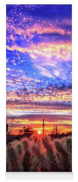 Glimmering Skies Yoga Mat