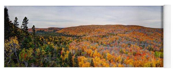 Glorious Autumn Lutsen Mountain Resort North Shore Minnesota Yoga Mat