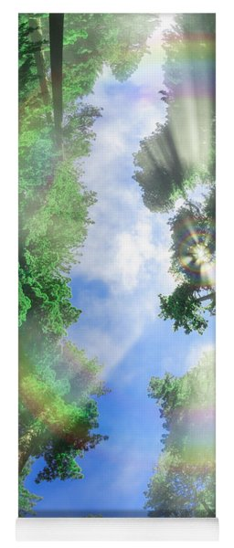 Glory Amongst Redwoods Yoga Mat