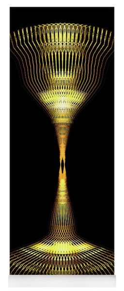 Glowing Brass Lamp Stand Yoga Mat