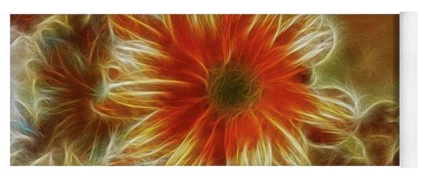 Glowing Flower Yoga Mat