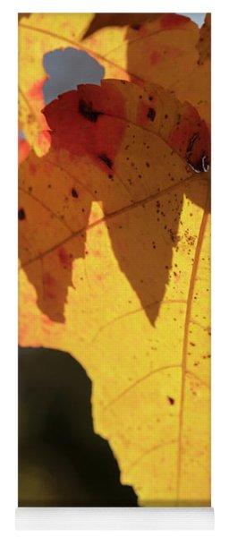 Glowing Leaves Yoga Mat