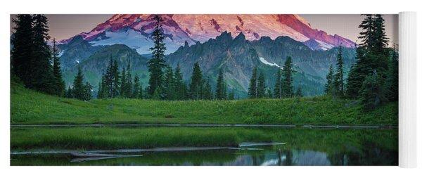 Glowing Peak - August Yoga Mat