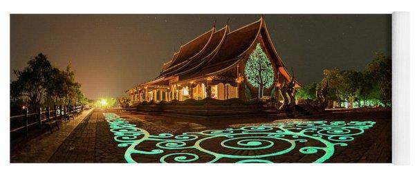 Glowing Wat Sirintorn Wararam Temple, Ubon Yoga Mat