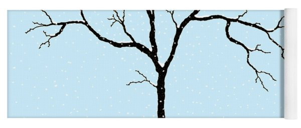 Gnarled In Winter Yoga Mat