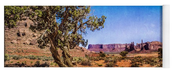 Gnarled Utah Juniper At Monument Vally Yoga Mat