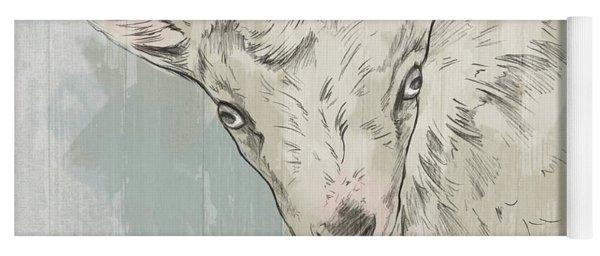 Goat Portrait-farm Animals Yoga Mat