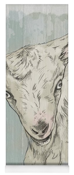 Goat Portrait-farm Animals Yoga Mat