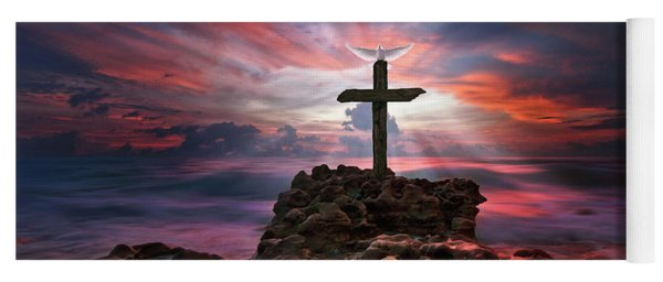 God Is My Rock Special Edition Fine Art Yoga Mat
