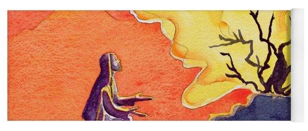 God Speaks To Moses From The Burning Bush Yoga Mat