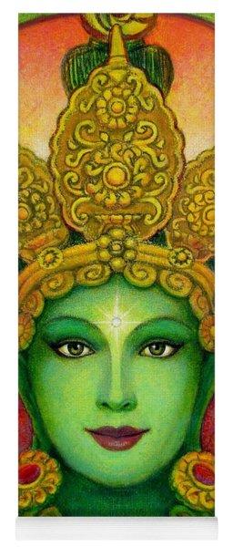 Goddess Green Tara's Face Yoga Mat