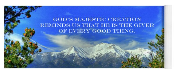 God's Majestic Creation Yoga Mat