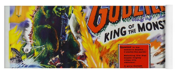 Godzilla King Of The Monsters An Enraged Monster Wipes Out An Entire City Vintage Movie Poster Yoga Mat