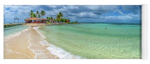 Goff's Caye Belize Pano Yoga Mat