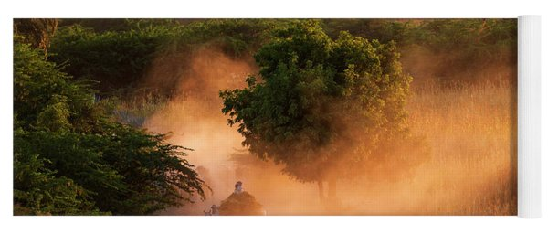 Yoga Mat featuring the photograph Going Home At Sunset by Pradeep Raja Prints