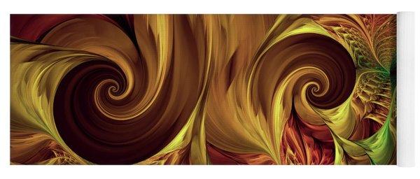 Gold Curl Yoga Mat
