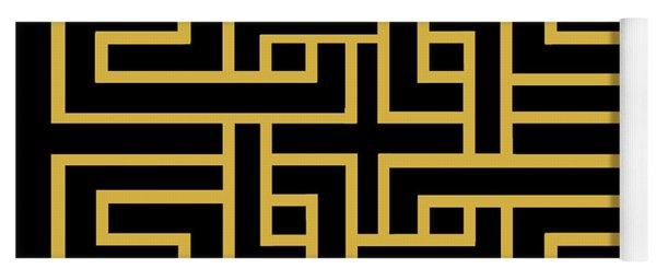 Gold Geo 6 Yoga Mat