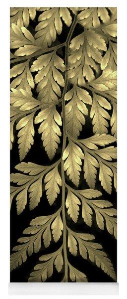 Gold Leaf Fern Yoga Mat