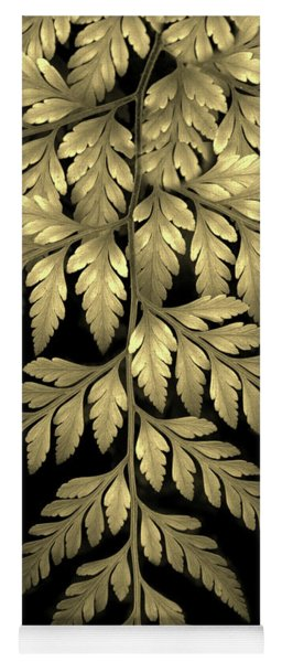 Yoga Mat featuring the photograph Gold Leaf Fern by Jessica Jenney