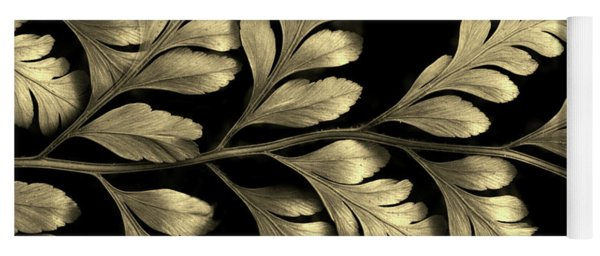 Yoga Mat featuring the photograph Gold Leaf by Jessica Jenney