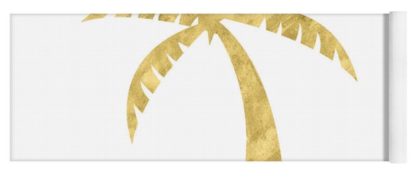 Gold Palm Tree- Art By Linda Woods Yoga Mat