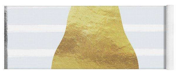 Gold  Pear - Art By Linda Woods Yoga Mat