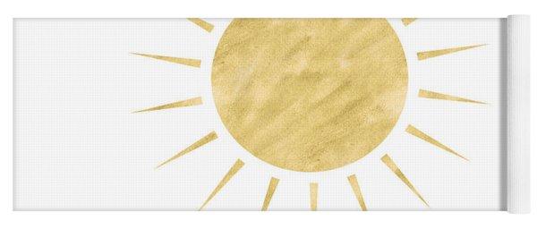 Gold Sun- Art By Linda Woods Yoga Mat