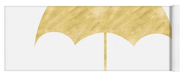 Gold Umbrella- Art By Linda Woods Yoga Mat