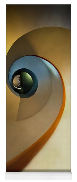 Golden And Brown Spiral Staircase Yoga Mat