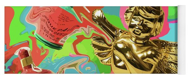Golden Angel With Party Poppers Yoga Mat