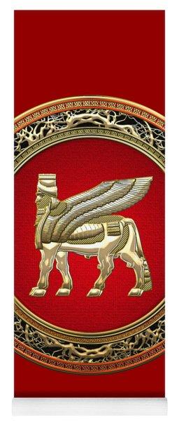 Golden Babylonian Winged Bull  Yoga Mat