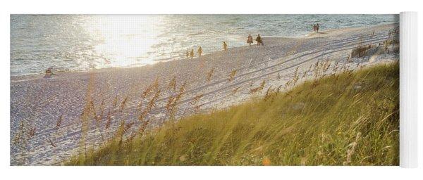 Golden Beach Afternoon Yoga Mat
