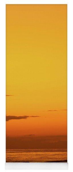 Golden Beach Sunset Yoga Mat