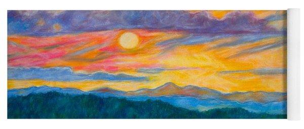 Golden Blue Ridge Sunset Yoga Mat