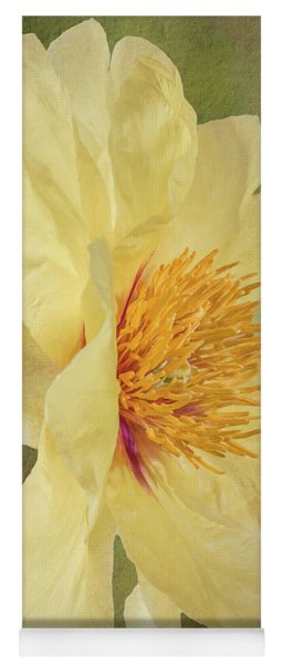 Golden Bowl Tree Peony Bloom - Profile Yoga Mat