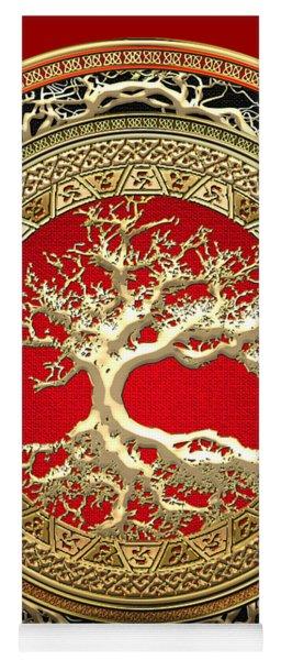 Golden Celtic Tree Of Life  Yoga Mat