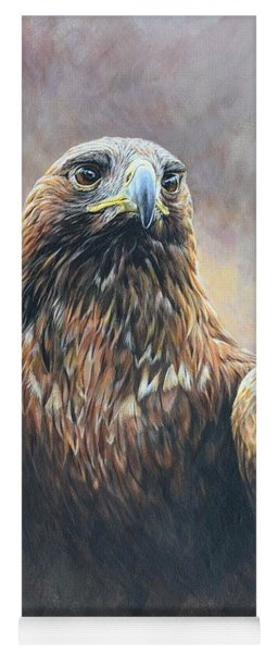 Golden Eagle Portrait Yoga Mat
