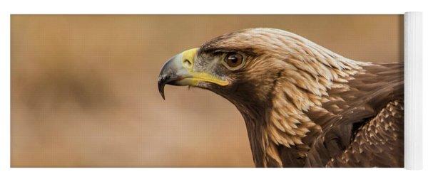 Golden Eagle's Portrait Yoga Mat