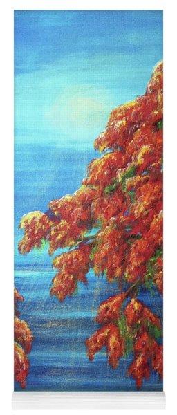 Golden Flame Tree Yoga Mat