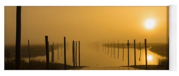 Golden Fog On The Nissequogue Yoga Mat