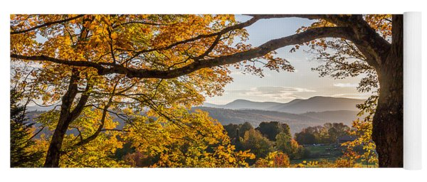 Vermont Framed In Gold Yoga Mat