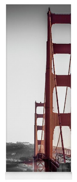 Golden Gate Black And Red Yoga Mat