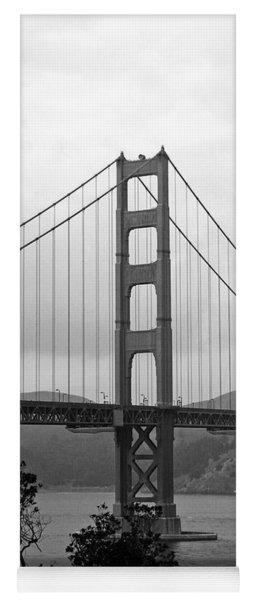 Golden Gate Bridge- Black And White Photography By Linda Woods Yoga Mat
