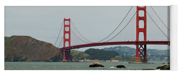Golden Gate Bridge From Baker Beach Yoga Mat