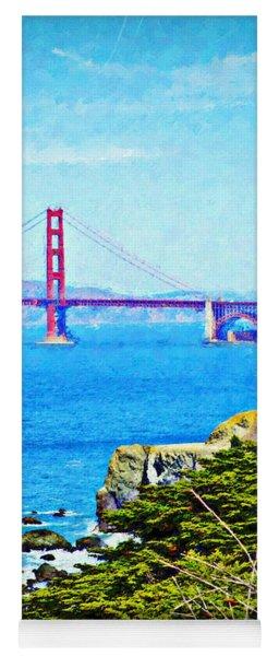 Golden Gate Bridge From The Coastal Trail Yoga Mat