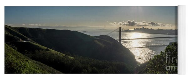 Golden Gate Bridge From The Road Up The Mountain Yoga Mat