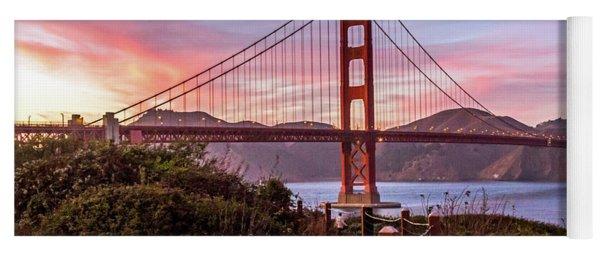 Golden Gate Bridge Sunset Yoga Mat
