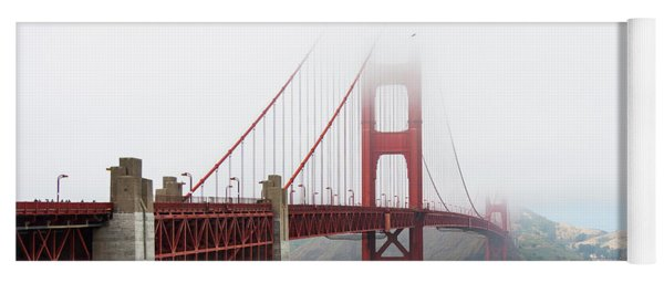 Golden Gate In The Fog Yoga Mat