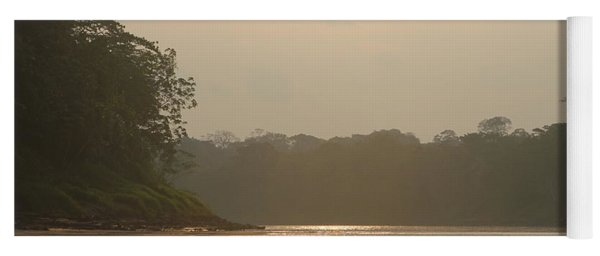 Golden Haze Covering The Amazon River Yoga Mat