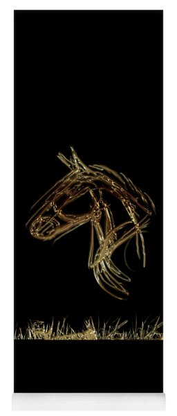 Golden Horse Yoga Mat